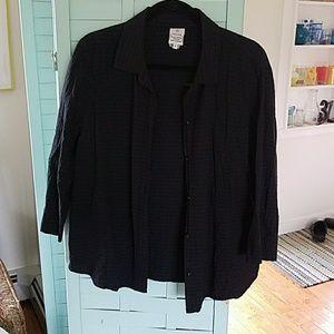 FOCUS 100% Cotton Shirt Black Large
